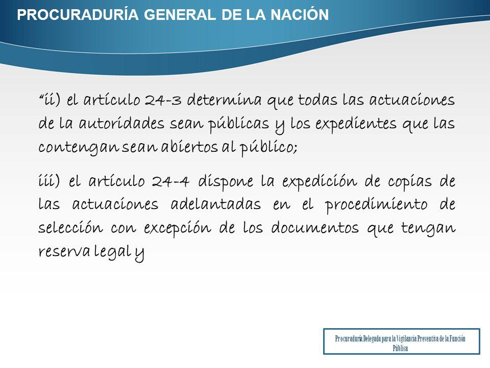 PROCURADURÍA GENERAL DE LA NACIÓN