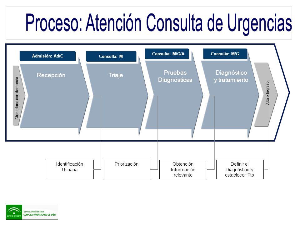 Proceso: Atención Consulta de Urgencias