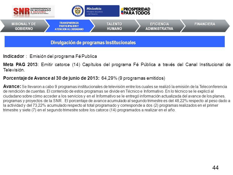 44 Divulgación de programas Institucionales