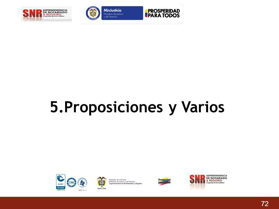 5.Proposiciones y Varios