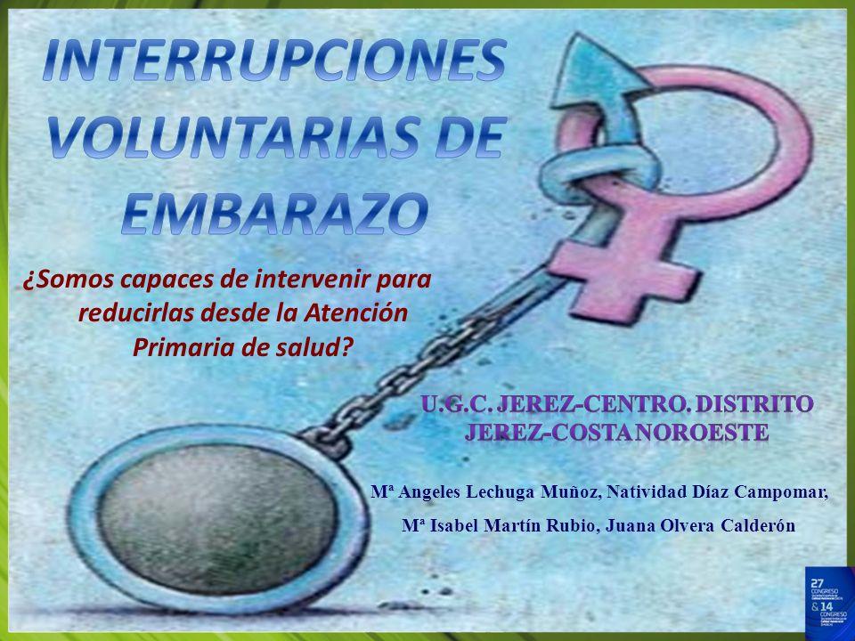 INTERRUPCIONES VOLUNTARIAS DE EMBARAZO