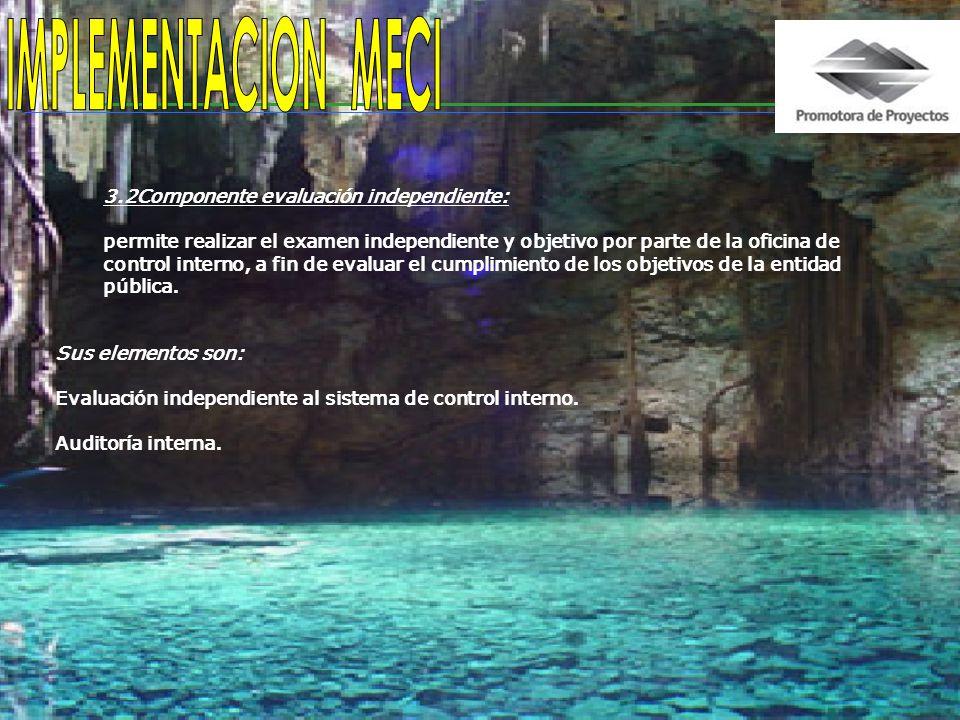 IMPLEMENTACION MECI 3.2Componente evaluación independiente: