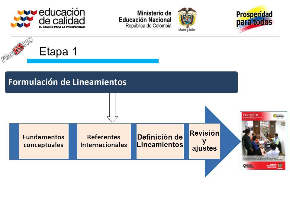Etapa 1 Formulación de Lineamientos Fundamentos conceptuales