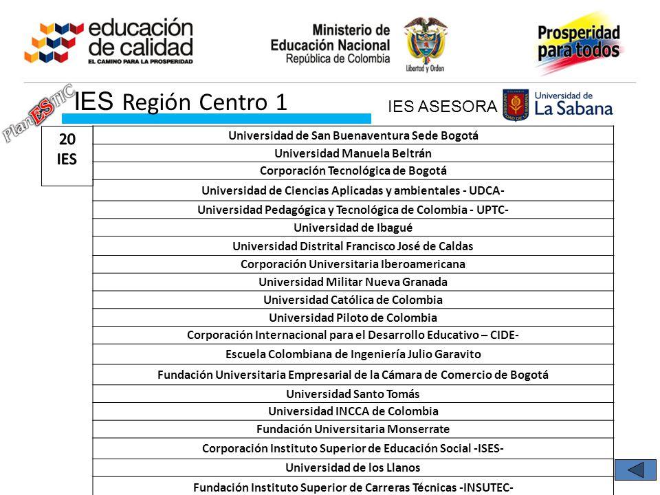 IES Región Centro 1 IES ASESORA 20 IES