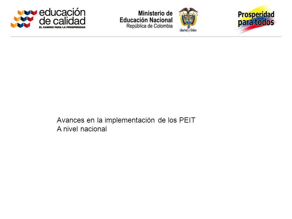 Avances en la implementación de los PEIT