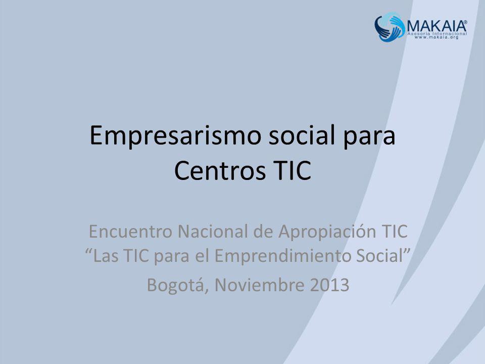 Empresarismo social para Centros TIC