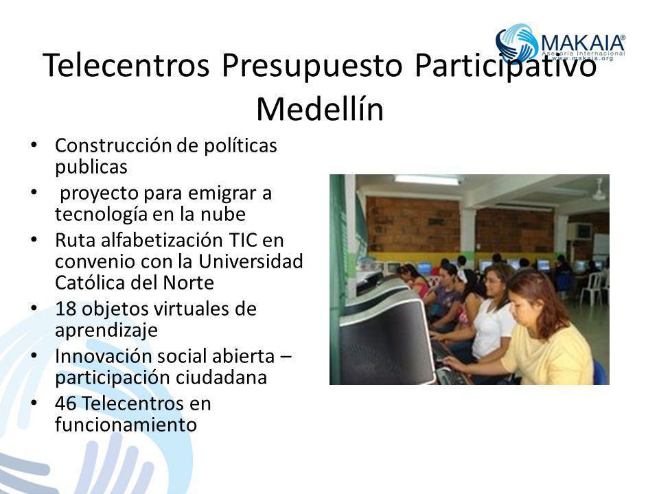 Telecentros Presupuesto Participativo Medellín
