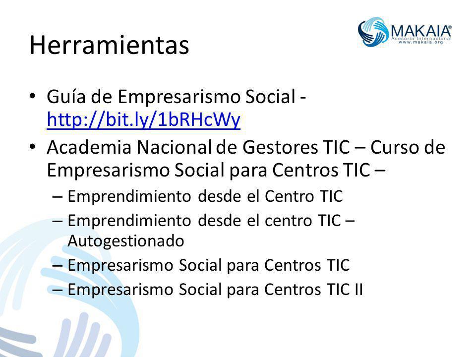 Herramientas Guía de Empresarismo Social - http://bit.ly/1bRHcWy