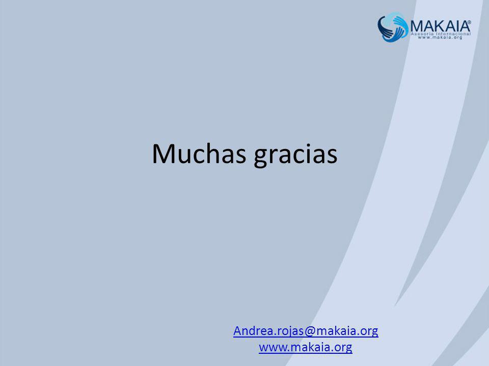 Andrea.rojas@makaia.org www.makaia.org