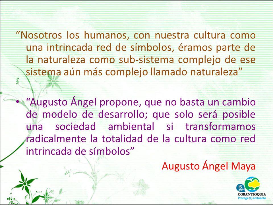 Nosotros los humanos, con nuestra cultura como una intrincada red de símbolos, éramos parte de la naturaleza como sub-sistema complejo de ese sistema aún más complejo llamado naturaleza