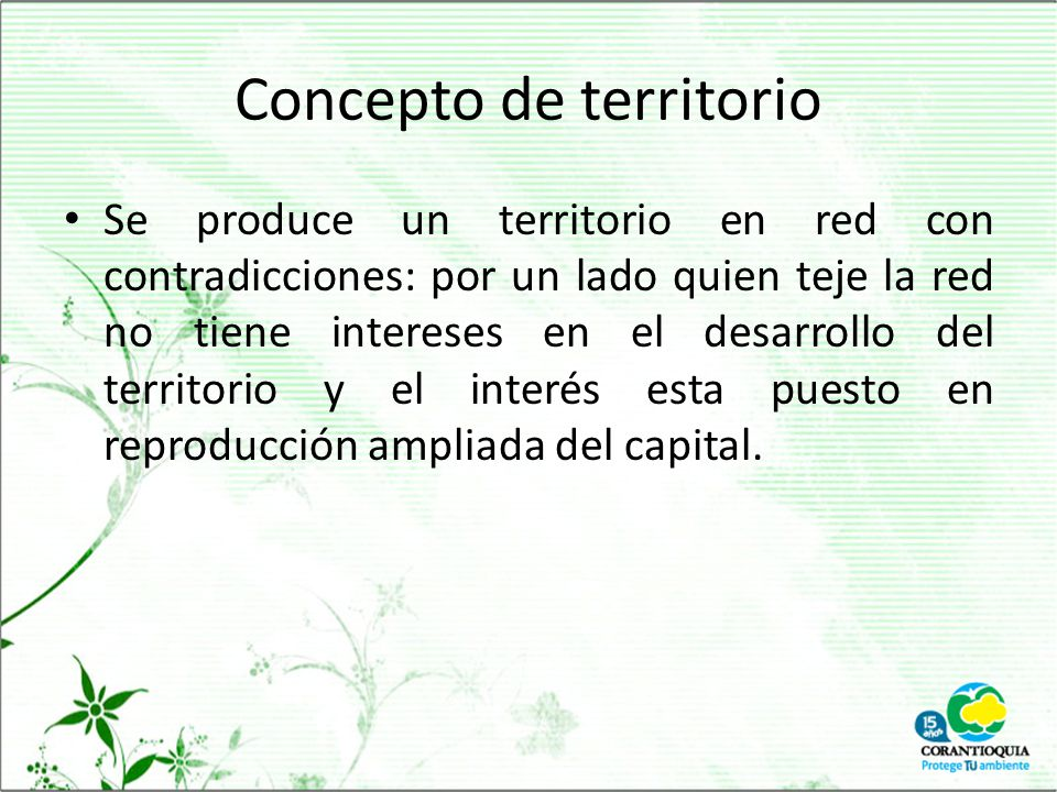Concepto de territorio