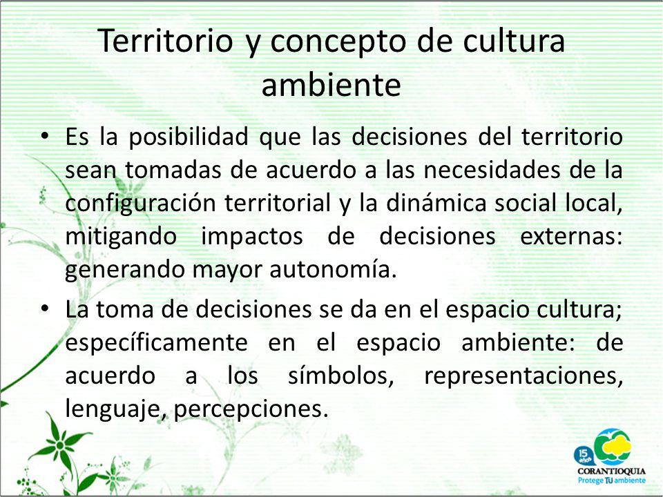 Territorio y concepto de cultura ambiente