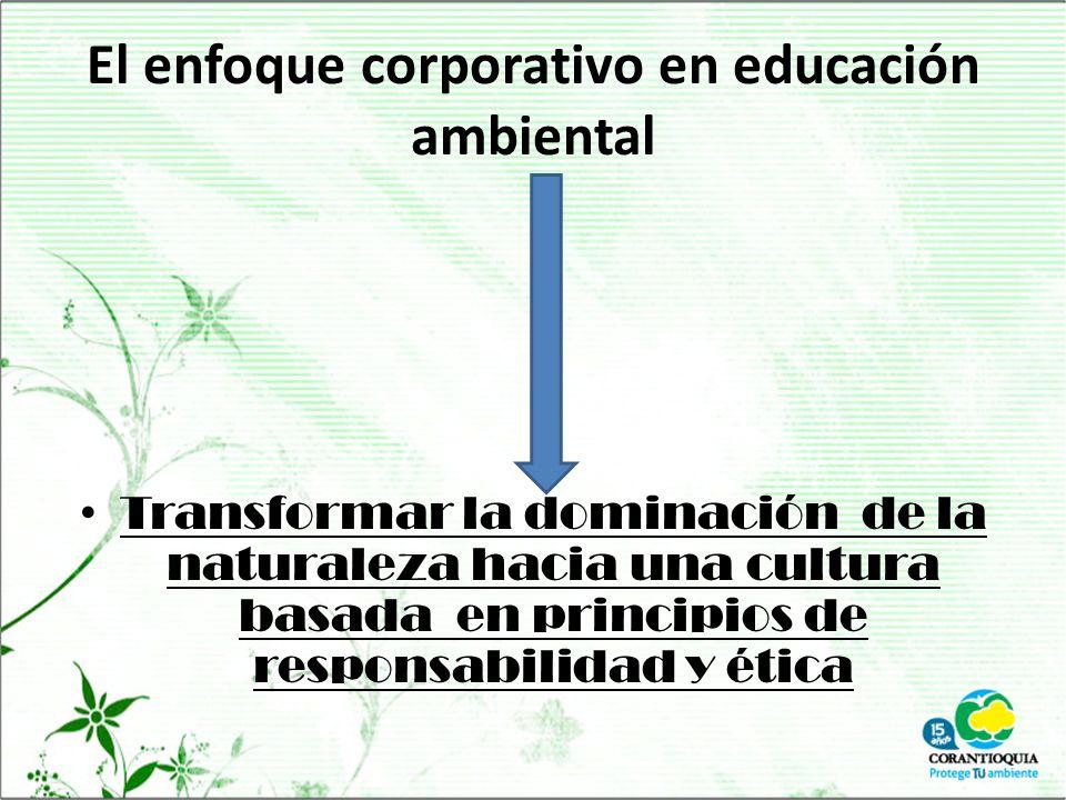 El enfoque corporativo en educación ambiental