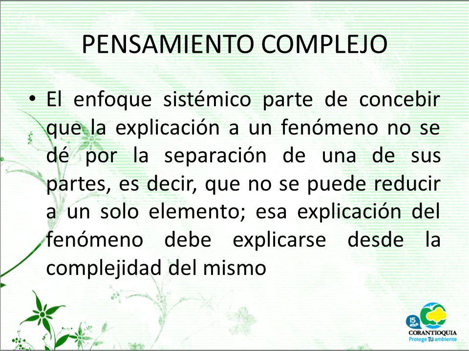 PENSAMIENTO COMPLEJO