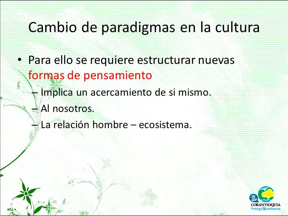 Cambio de paradigmas en la cultura
