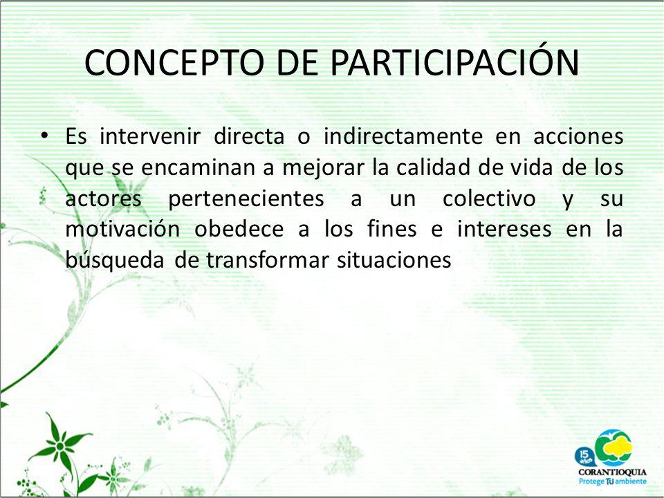CONCEPTO DE PARTICIPACIÓN