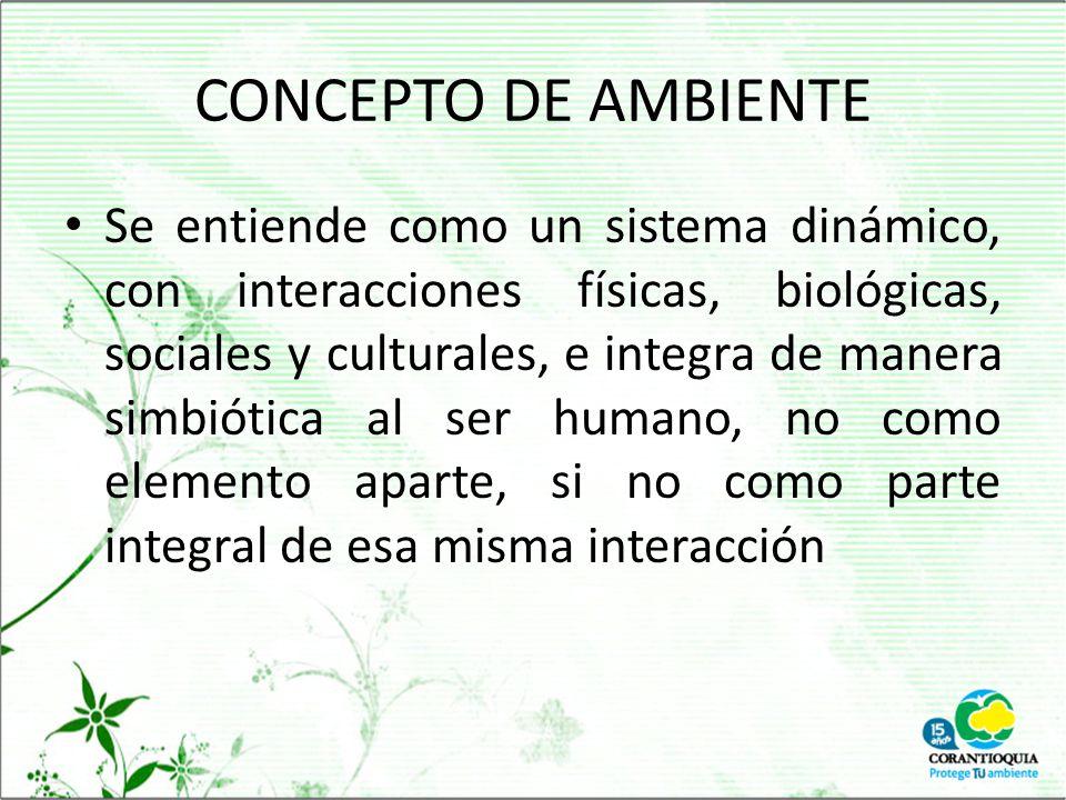 CONCEPTO DE AMBIENTE