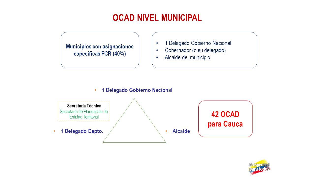 OCAD NIVEL MUNICIPAL 42 OCAD para Cauca