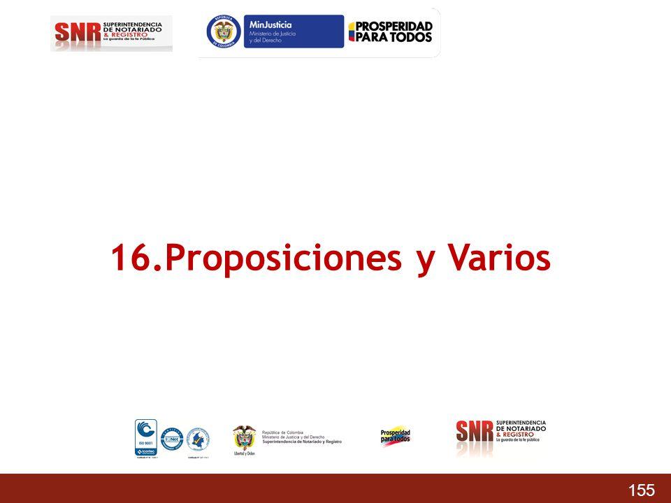 16.Proposiciones y Varios