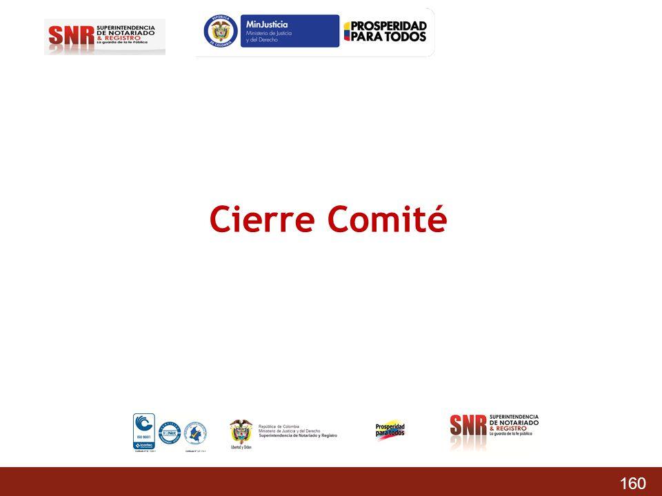 Cierre Comité 160