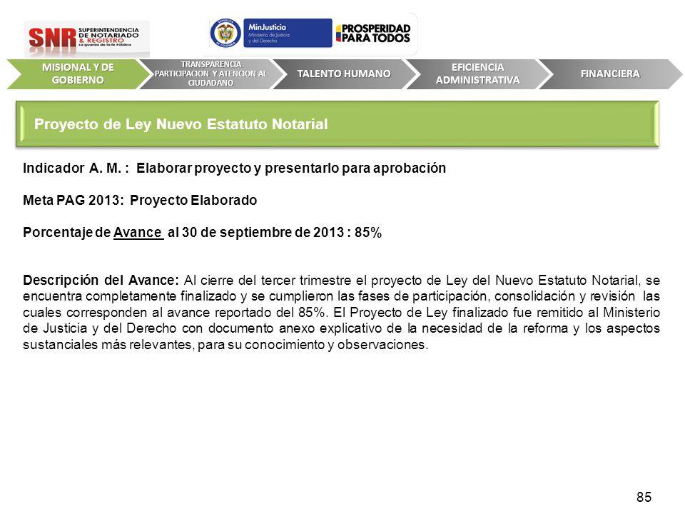 Proyecto de Ley Nuevo Estatuto Notarial
