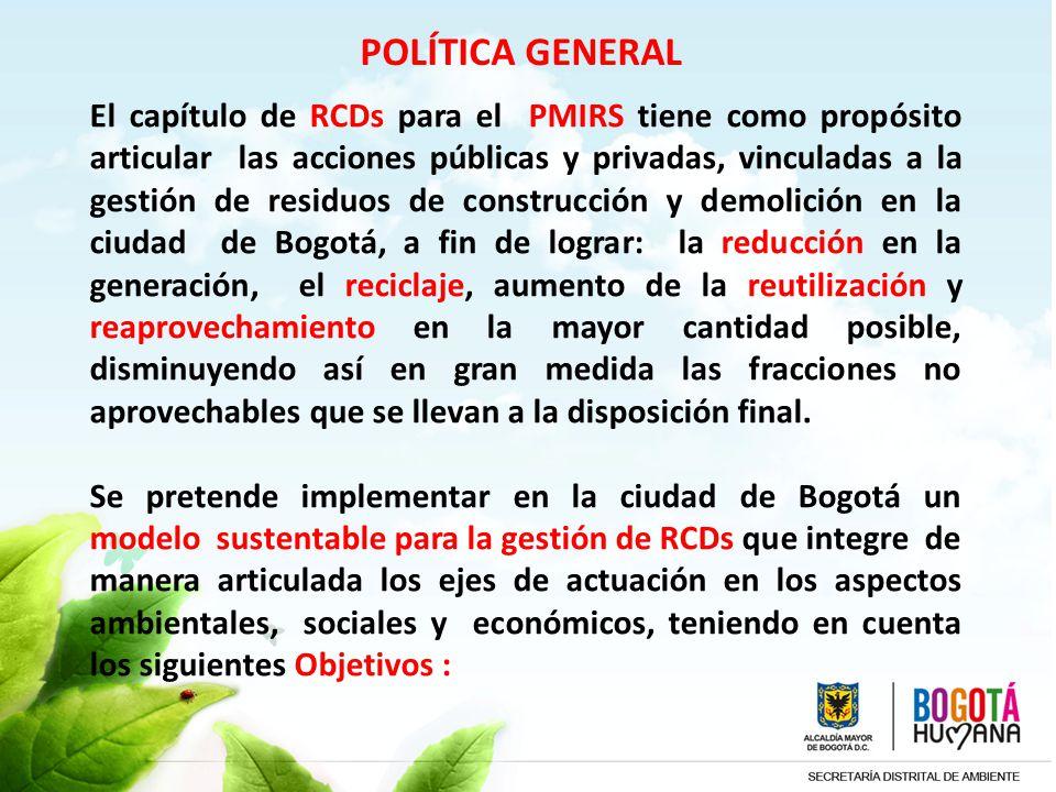 POLÍTICA GENERAL