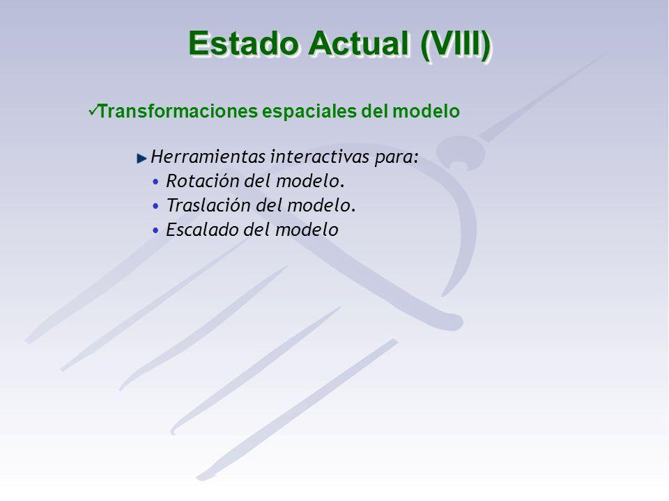 Transformaciones espaciales del modelo