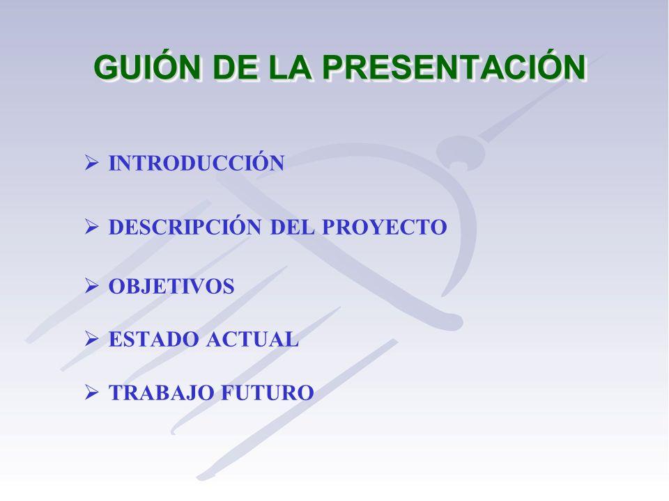 GUIÓN DE LA PRESENTACIÓN