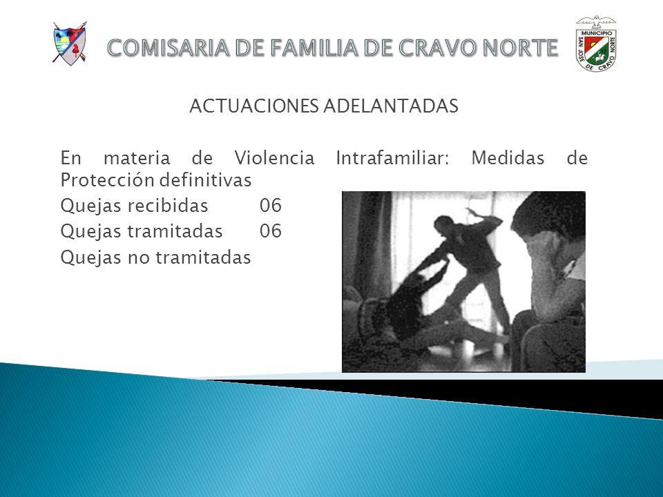 COMISARIA DE FAMILIA DE CRAVO NORTE