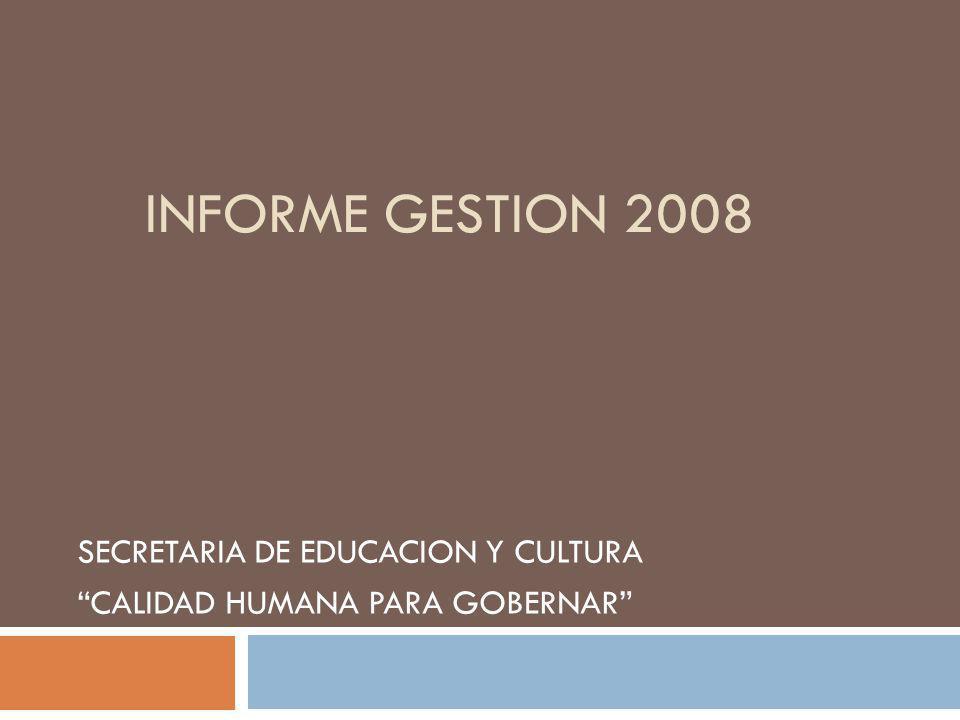 SECRETARIA DE EDUCACION Y CULTURA CALIDAD HUMANA PARA GOBERNAR