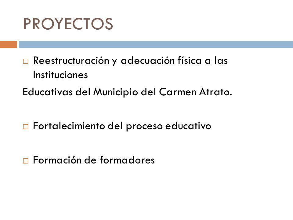 PROYECTOS Reestructuración y adecuación física a las Instituciones