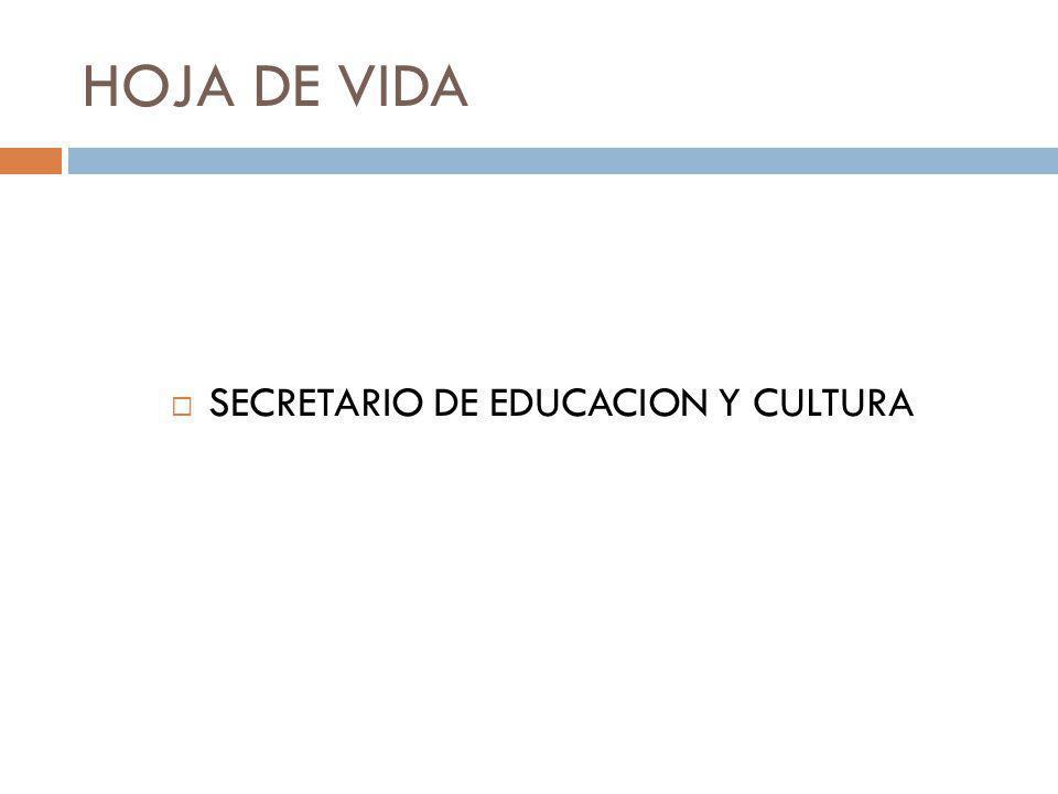 SECRETARIO DE EDUCACION Y CULTURA