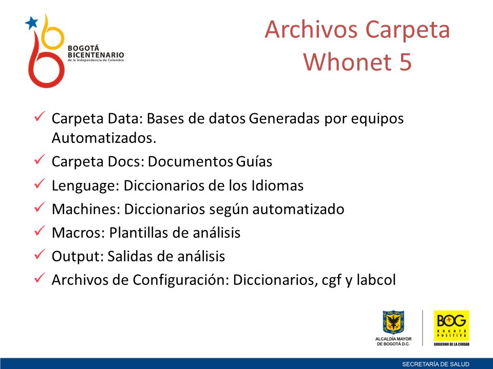 Archivos Carpeta Whonet 5