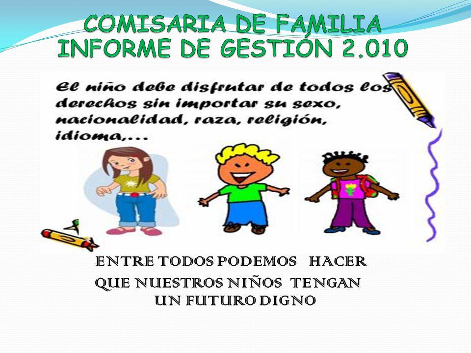 COMISARIA DE FAMILIA INFORME DE GESTIÓN 2.010