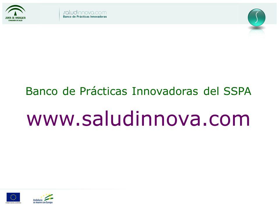 Banco de Prácticas Innovadoras del SSPA