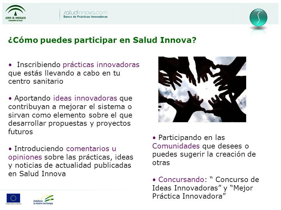 ¿Cómo puedes participar en Salud Innova