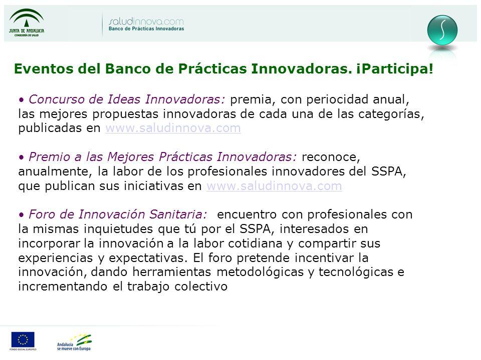 Eventos del Banco de Prácticas Innovadoras. ¡Participa!