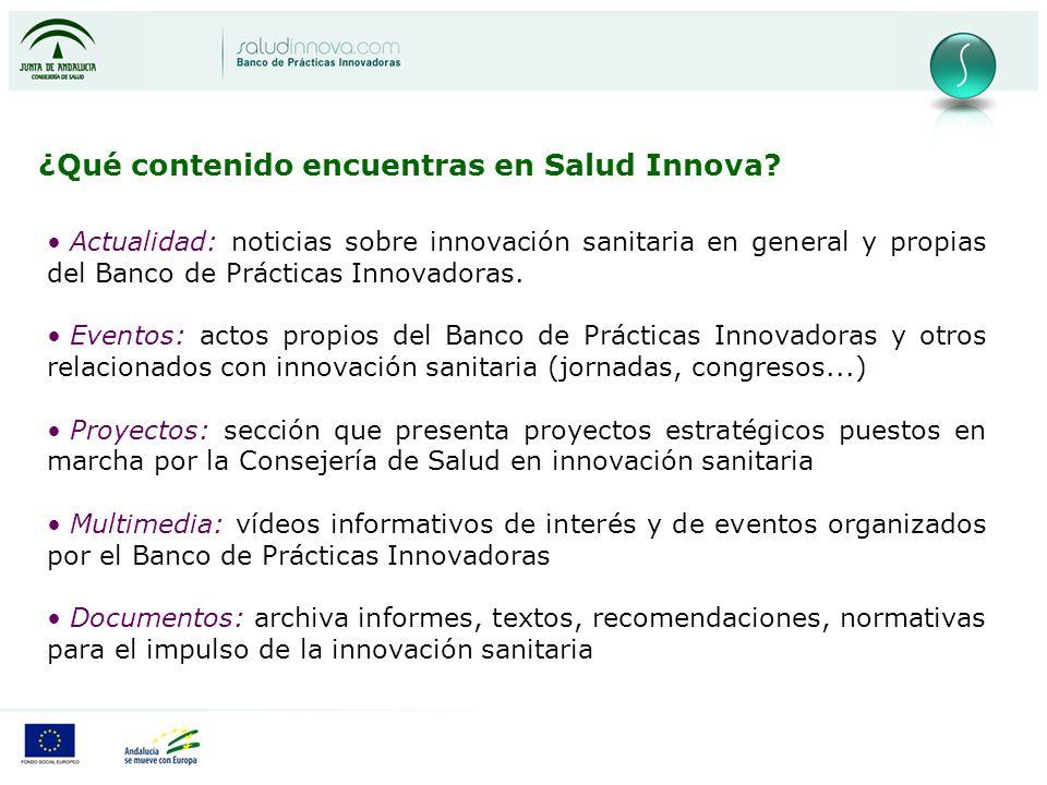 ¿Qué contenido encuentras en Salud Innova