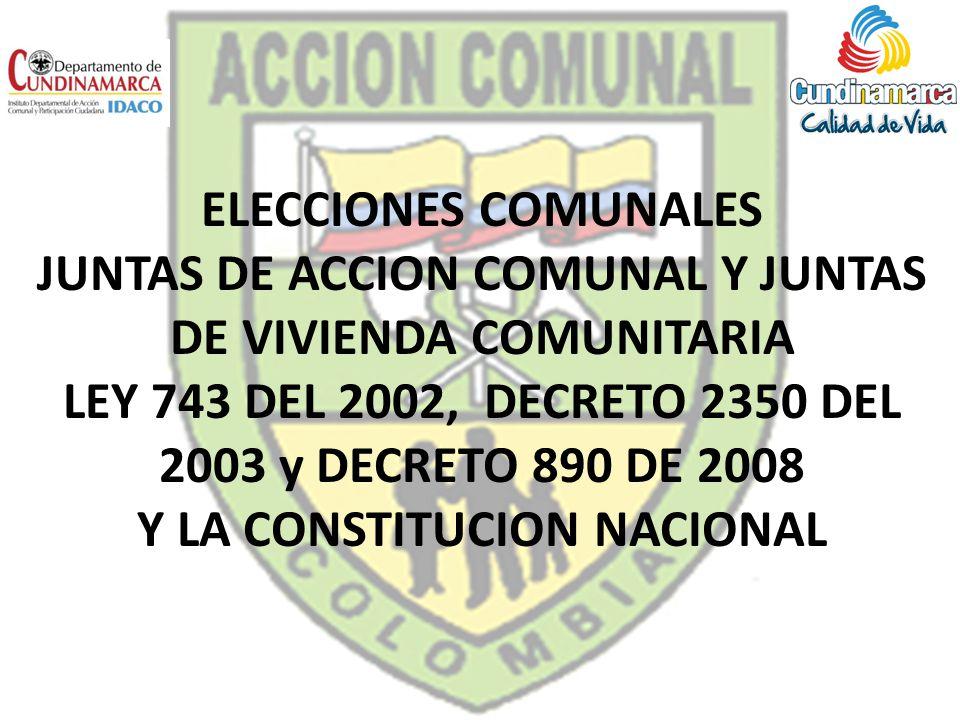 LEY 743 DEL 2002, DECRETO 2350 DEL 2003 y DECRETO 890 DE 2008