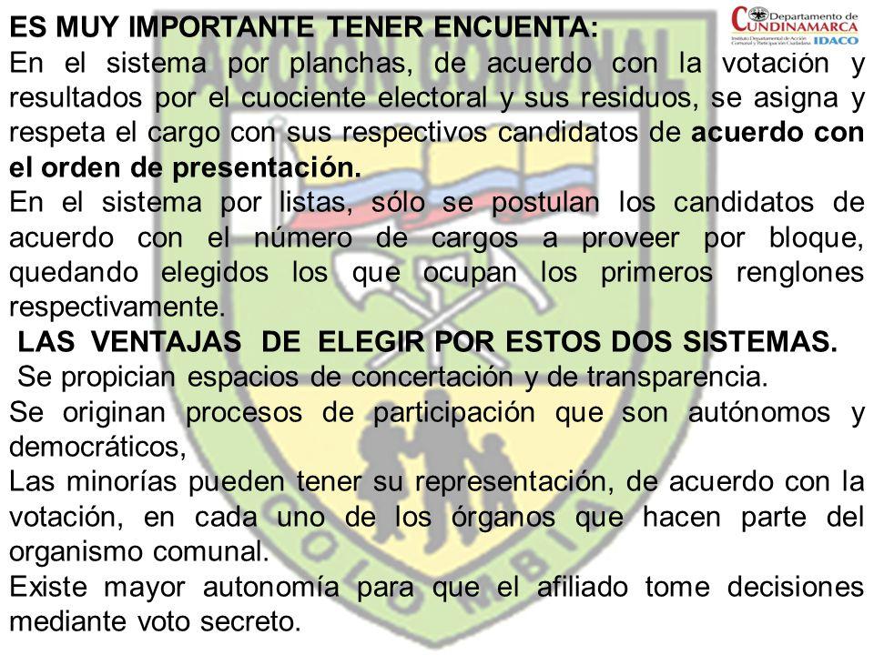 ES MUY IMPORTANTE TENER ENCUENTA: