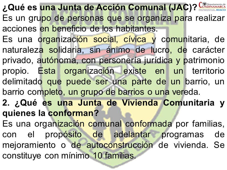 ¿Qué es una Junta de Acción Comunal (JAC)