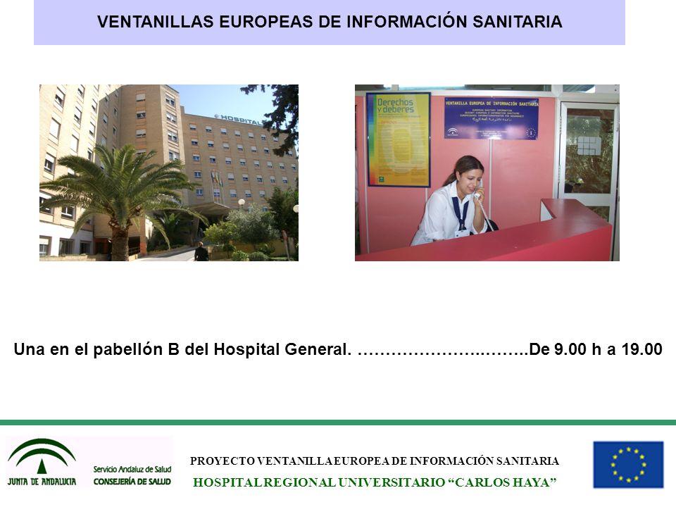 VENTANILLAS EUROPEAS DE INFORMACIÓN SANITARIA