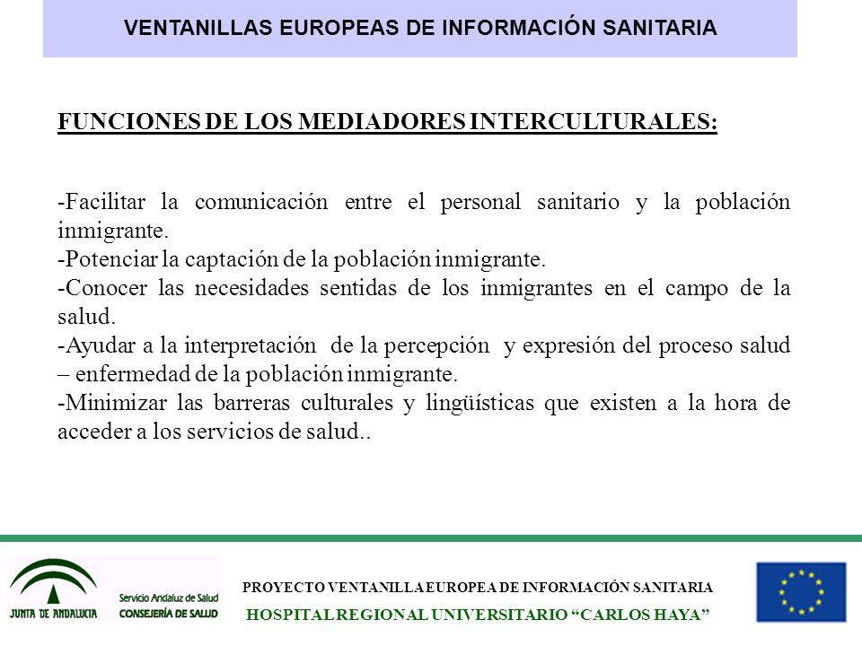 FUNCIONES DE LOS MEDIADORES INTERCULTURALES:
