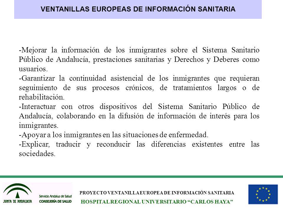 -Apoyar a los inmigrantes en las situaciones de enfermedad.