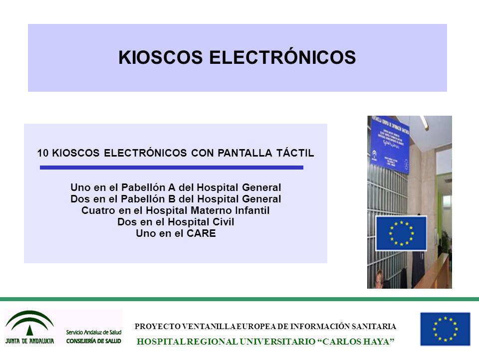 KIOSCOS ELECTRÓNICOS 10 KIOSCOS ELECTRÓNICOS CON PANTALLA TÁCTIL