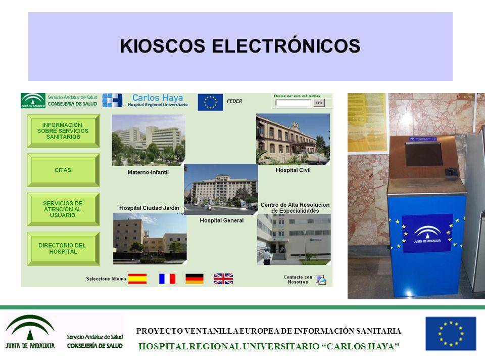 KIOSCOS ELECTRÓNICOS HOSPITAL REGIONAL UNIVERSITARIO CARLOS HAYA