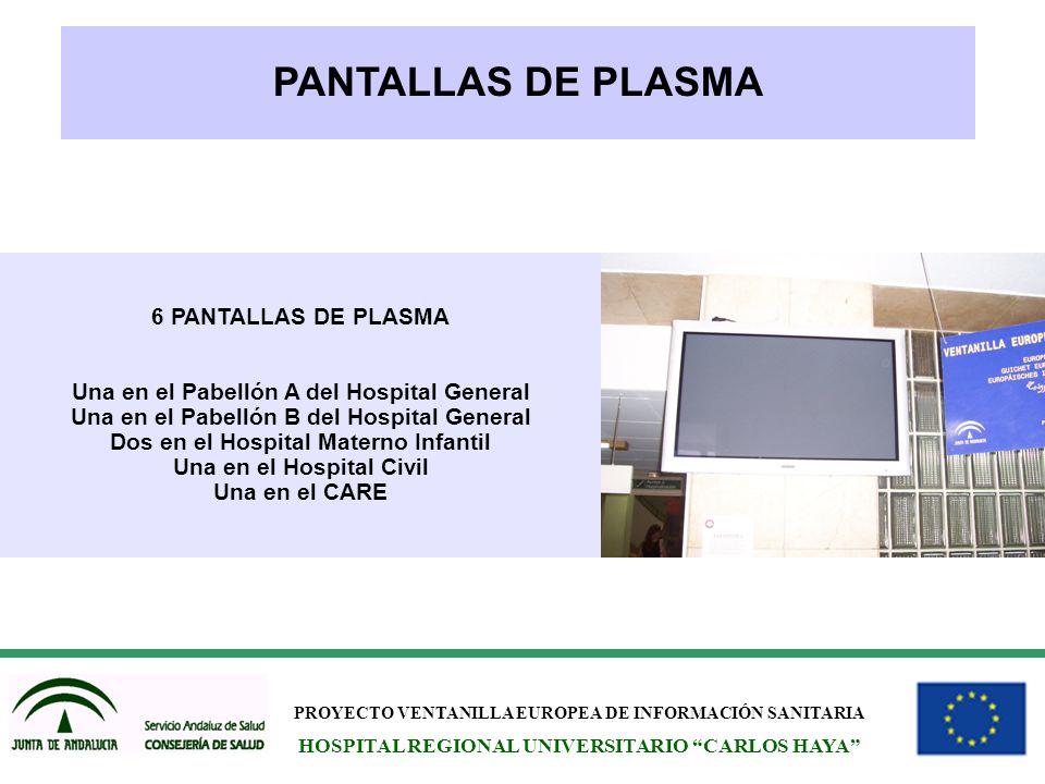 PANTALLAS DE PLASMA 6 PANTALLAS DE PLASMA