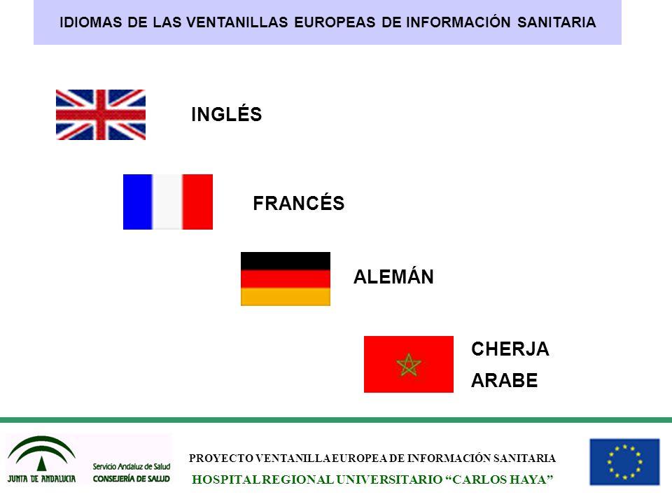 INGLÉS FRANCÉS ALEMÁN CHERJA ARABE