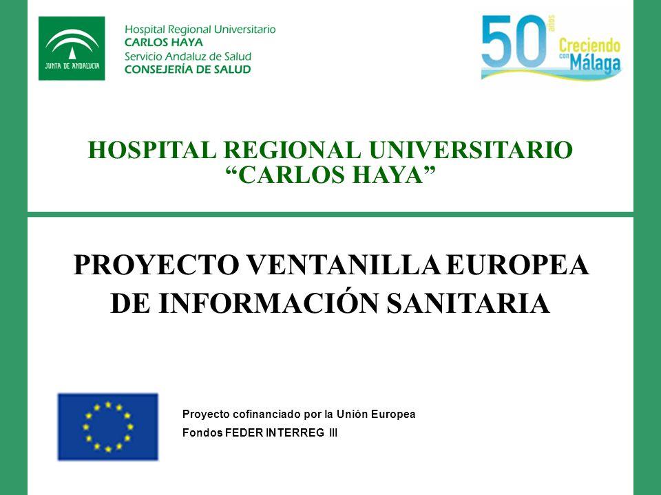 PROYECTO VENTANILLA EUROPEA DE INFORMACIÓN SANITARIA