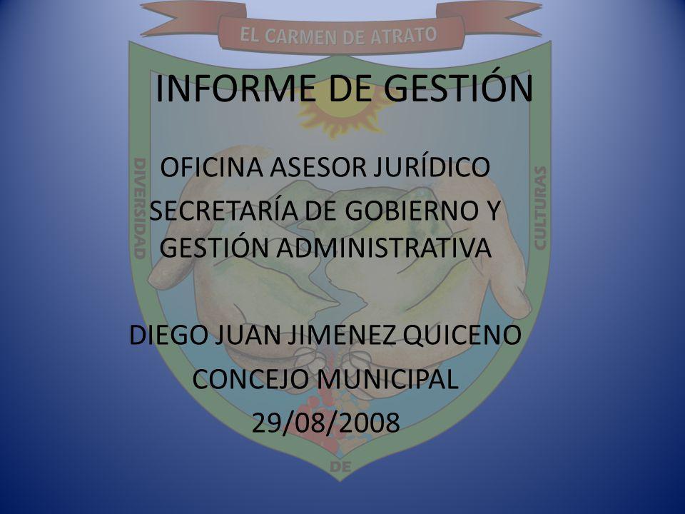 INFORME DE GESTIÓN OFICINA ASESOR JURÍDICO